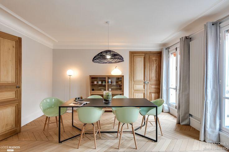 85 m2 rénovés à Paris 17e, blackStones - Côté Maison