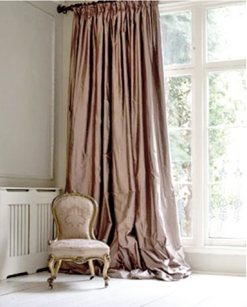 Silk Curtains, Dusty Rose Color