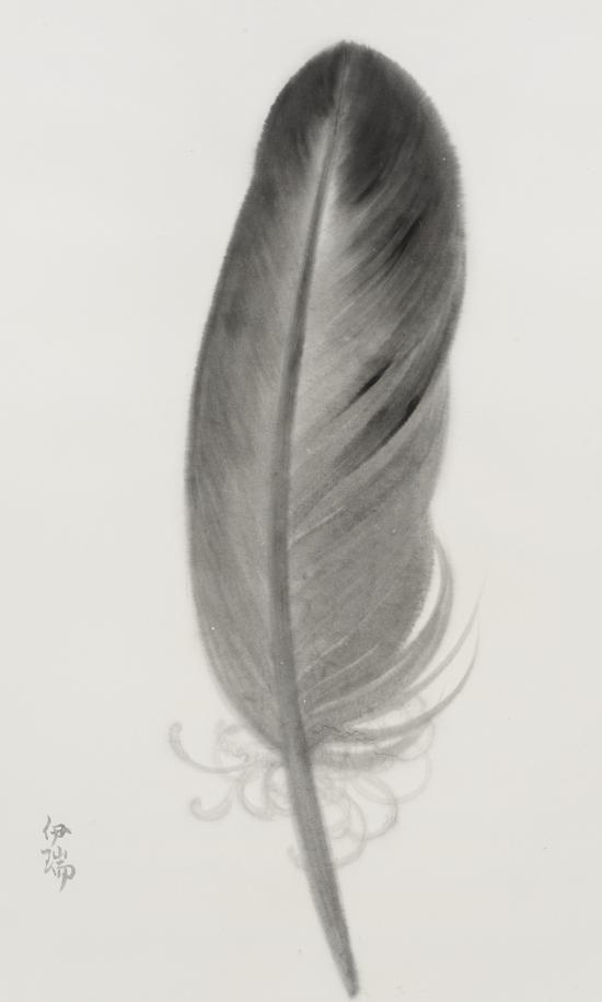 羽毛系列 76x120cm 宣纸水墨 2016
