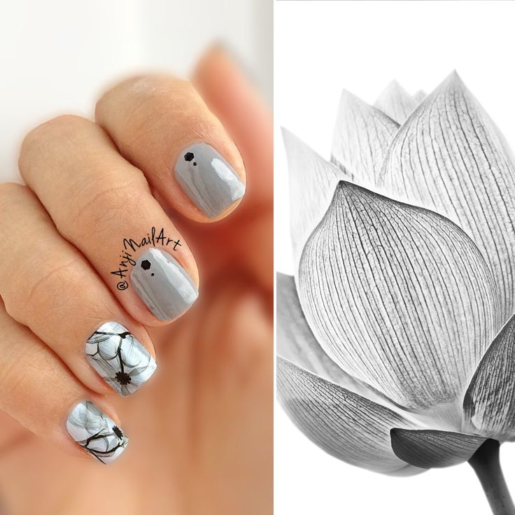 Gray dream #graydream #nailart #nailpolish #nailpolishaddict #mypassion #graynails #grayflowers #shortnails #adornnails #nails2inspire #nailstoinspire #saturday #amazingweekend #floralnails #graynailart #waterdecals #opi #opinailpolish #readyforadventures