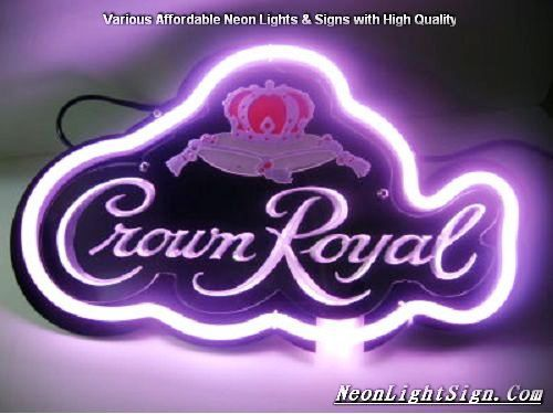 Crown Royal 3D Beer Bar Neon Light Sign - Beer Bar Neon Signs - NeonLightSign.Com Shop - Various affordable Neon Light Signs with high quality