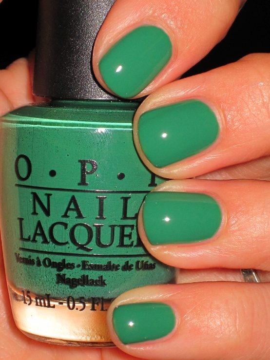 """O.P.I. """"Jade is the New Black"""" for st pattys day"""