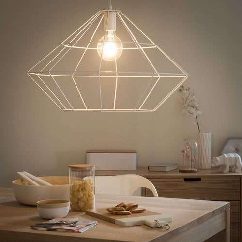 Lampadari Maisons du Monde 2017 - Origami, lampadario bianco