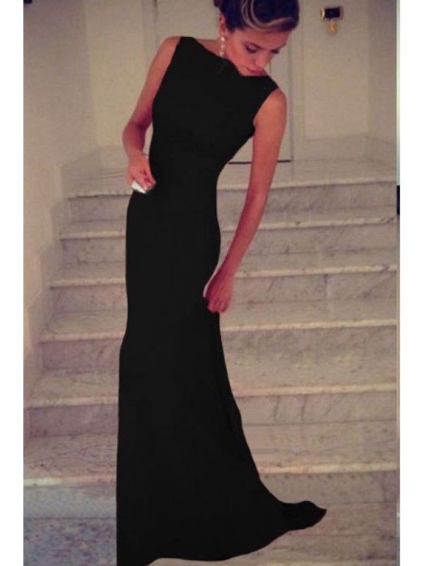 Rochie neagra simpla eleganta Elizabeth