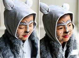 easy toddler wolf face makeup - Bing Images