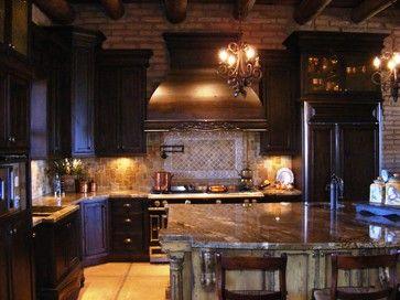 Rustic and Mediterranean - mediterranean - kitchen cabinets - Vivienda LLC