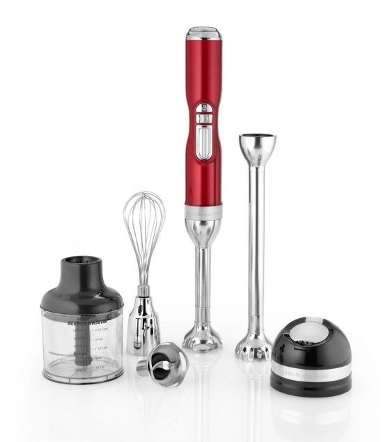Kitchen Aid Immersion Blender Kit This is the perfect too for Christmas cooking - and it's in Christmas RED!! #giveaway