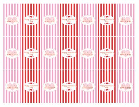 free valentines day party printables Hershey Mini Wrappers (1)