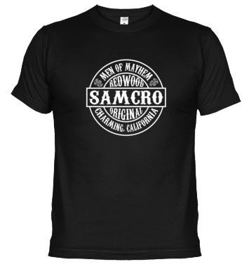 Camiseta SAMCRO IMPRESA EN ESPALDA Y PECHO