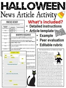 example of a newspaper article
