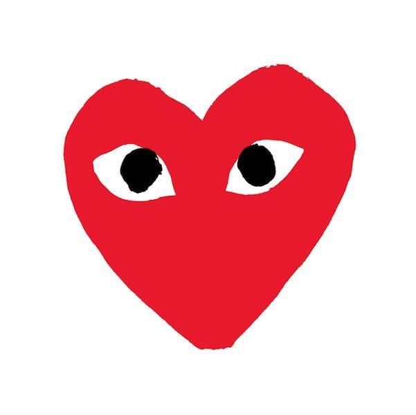 a guide to comme des gar ons play men 39 s heart logo. Black Bedroom Furniture Sets. Home Design Ideas