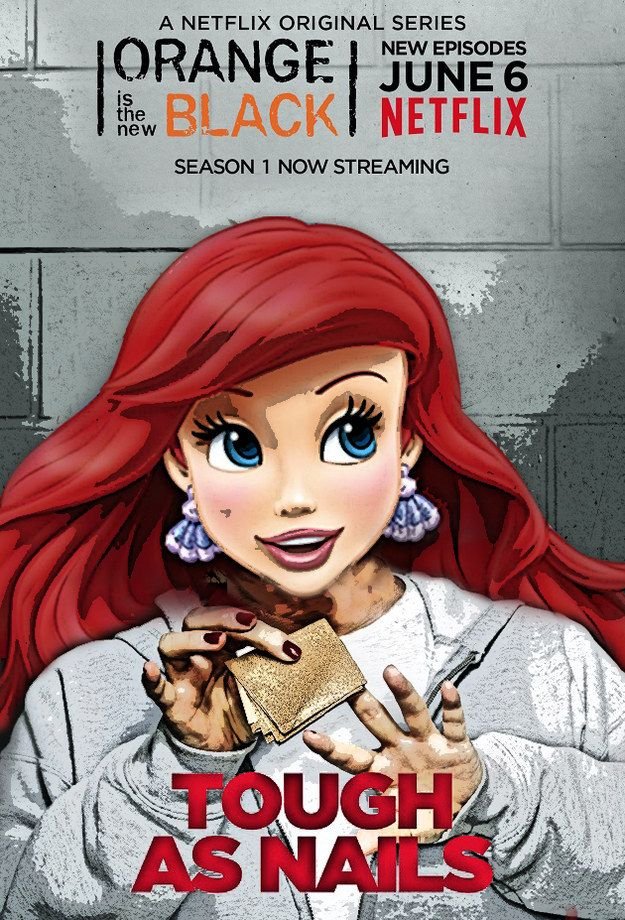 """Ariel as Red.   These Disney Characters Reimagined As The """"OITNB"""" Cast Are Spot On"""