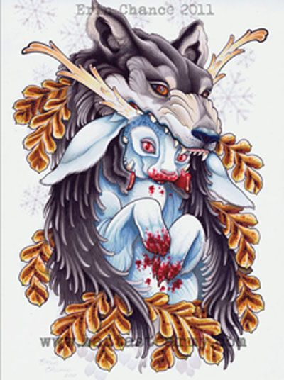 By tattoo artist Erin Chance