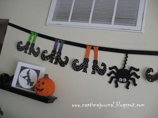 Nap Time Journal: Creepy Witchy Banner Tutorial