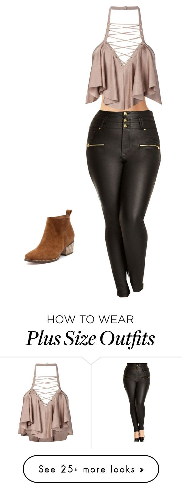 """""""hi beautiful"""" by queenanything on Polyvore featuring Balmain, City Chic and plus size clothing"""
