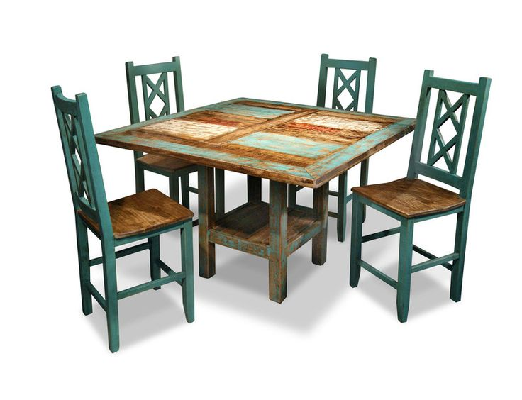 Bombay Collection Rustic Counter Height Dining Set Includes Table And 4 Stools