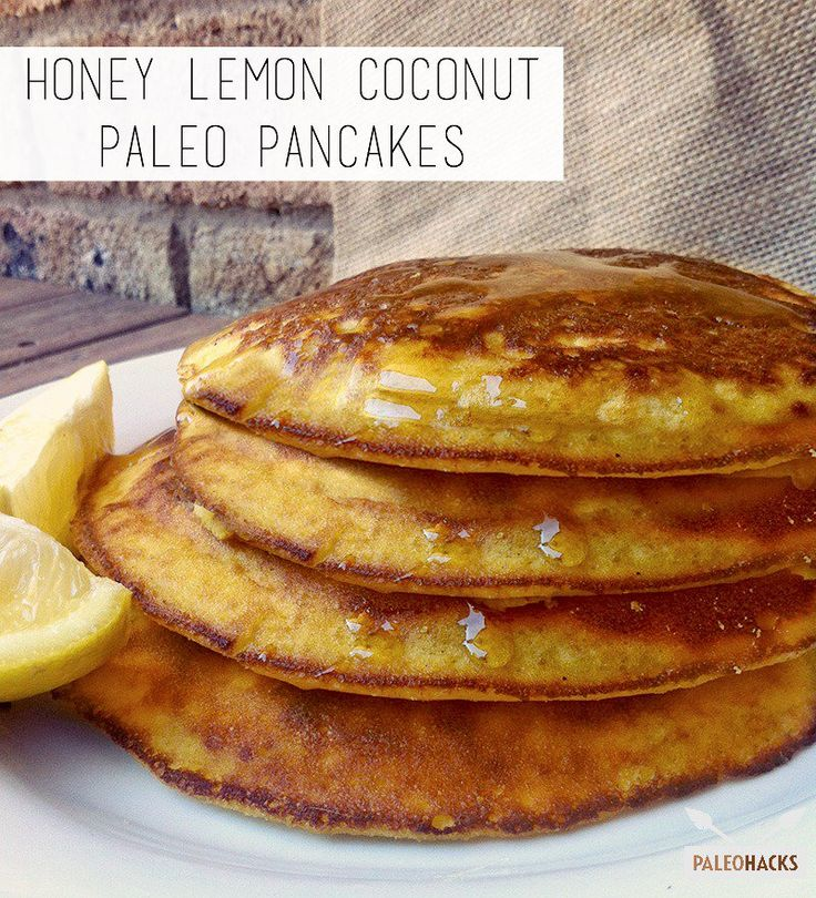 Delicious Honey Lemon Coconut Paleo Pancakes make for a perfect healthy breakfast.