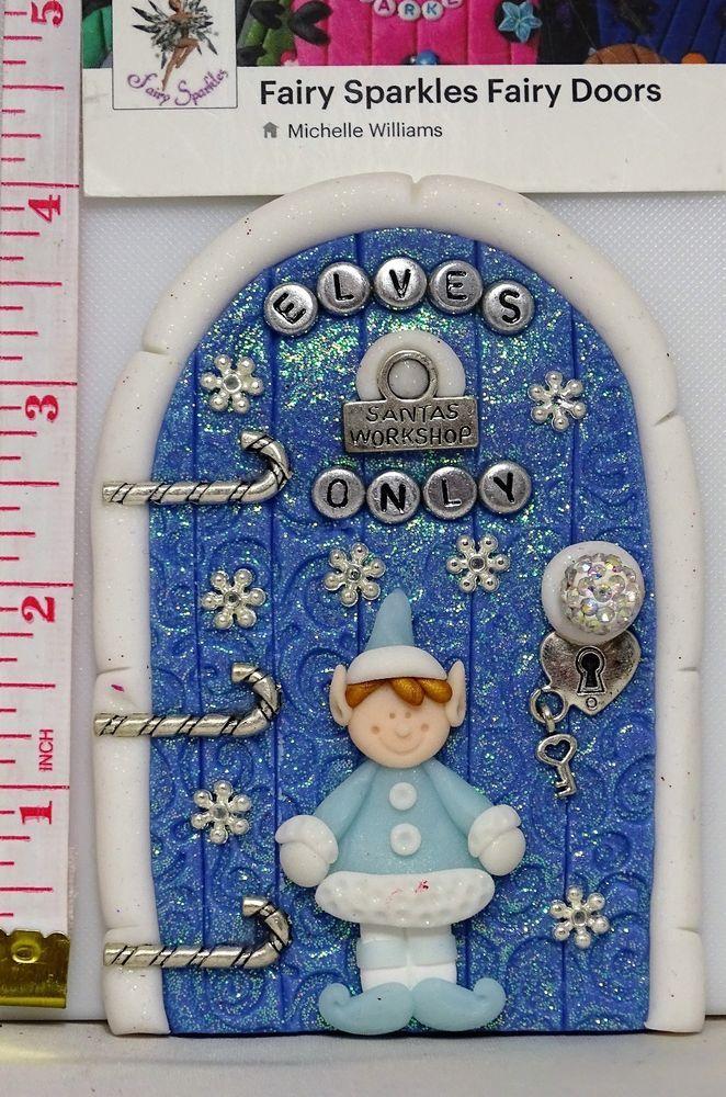 Christmas Fairy Door, Elf, Shelf, Door by Fairy Sparkles CD547