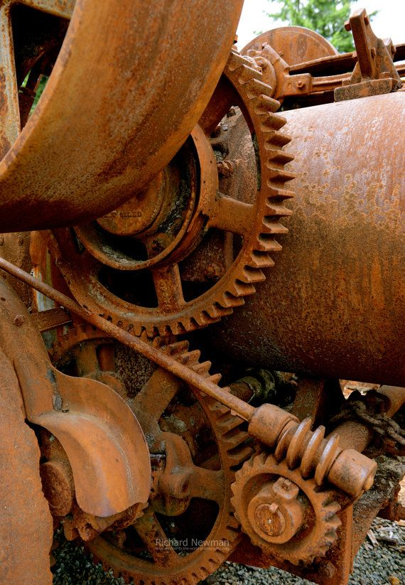 Gears from Log Equipment rustic wall art industrial by newman48, $25.00