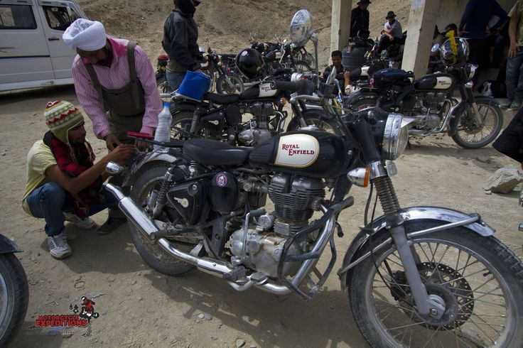 Any road side break-downs are fixed up in less than a minute. Our Royal Enfield Maestro are always in the back-jeep to make sure, that rider are riding a clean and well maintain machine.
