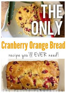 The very best, quick and easy, delicious Cranberry Orange Bread ever! Seriously mouthwatering!