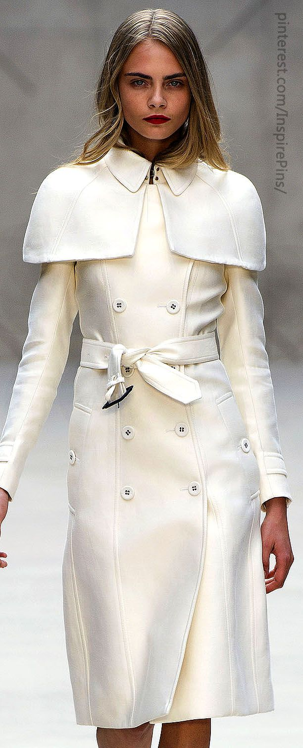 Burberry Prorsum Fabulous coat to head to the airport in, for those of us in the colder climates this winter.