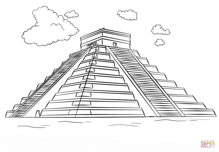 coloring pages of aztec pyramids Book Covers in 2019