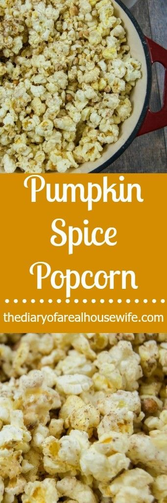 Pumpkin Spice Popcorn. So easy to make and you will NOT be able to stop eating it!!