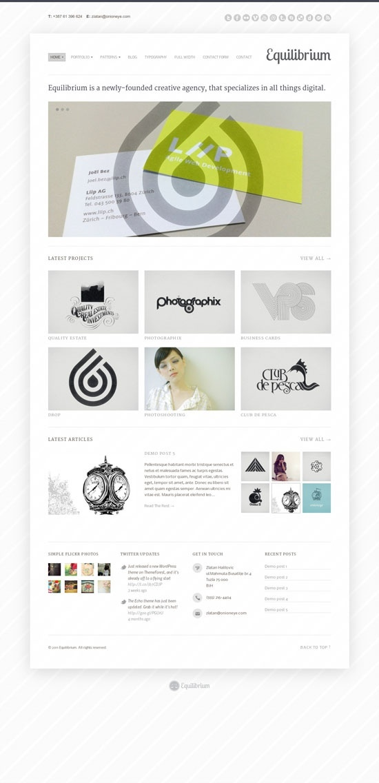 Web Design Site Template Minimal Simple White 4 Column Layout Paper