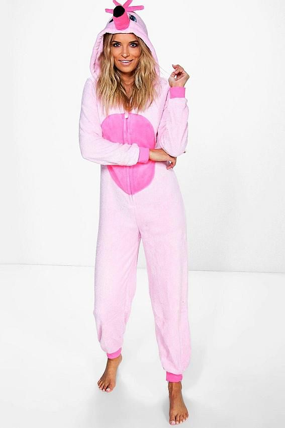 e35a42aa6673 Womens Pink Animal Onesie in 2019