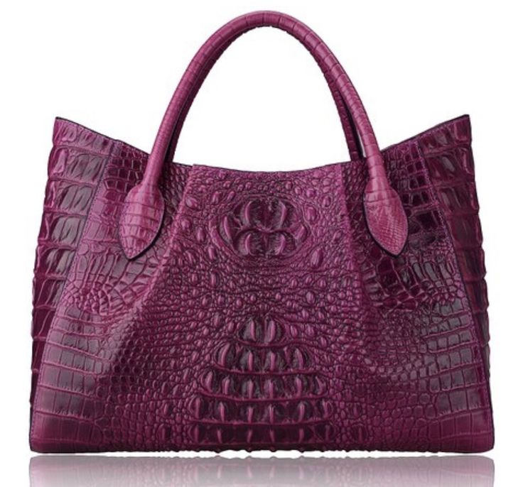 New Crocodile Embossed Italian Leather Tote Hand Bag Satchel Bag. Italian Leather handbags wallets and briefcases you likely won't find anywhere else. Material- Italian Leather. Comes with removable cloth pouch. | eBay!
