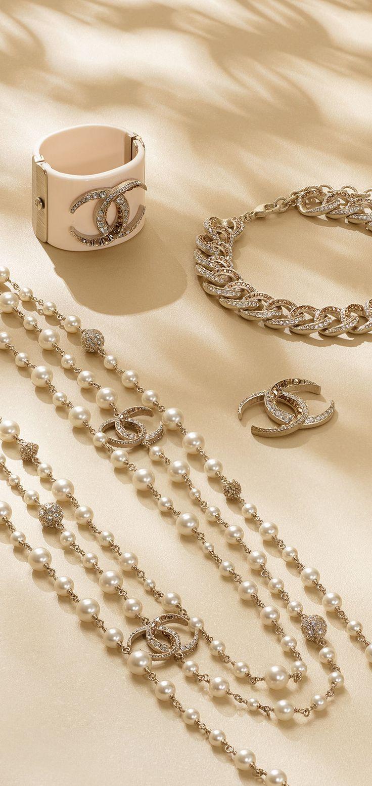 long multi strand metal necklace chanel 2015. Black Bedroom Furniture Sets. Home Design Ideas