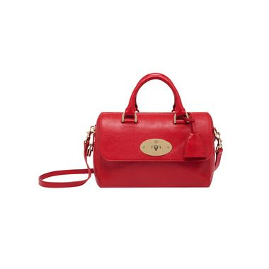 Mulberry - Small Del Rey in Bright Red Shiny Goat