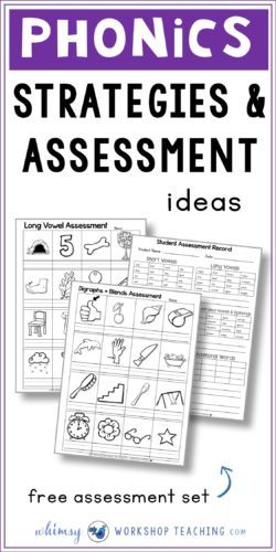 Use this simple assessment pack whenever you need to grab a quick idea of how students are progressing with letter sounds, phoneme and phonological awareness, blends and other spelling patterns (free download)