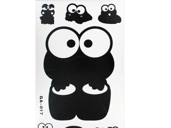 "Decorative Wall Decals, 40 - Customize your space with these Decorative Wall Decals featuring assorted black designs on transparent plastic stickers. Suitable for most non-porous surfaces. Comes in assorted styles. For ages 3 and up. Sheet measures approximately 19.5"" x 12"". Comes packaged in a poly bag with an insert card.-Weight: 0.3044/unit"