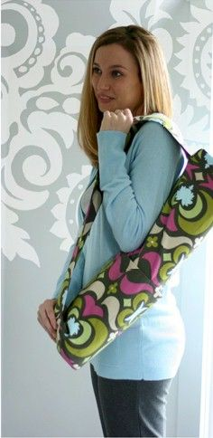 Nigella Yoga Bag - Free PDF Sewing Pattern by Amy Butler - trying this out for my Yoga mat