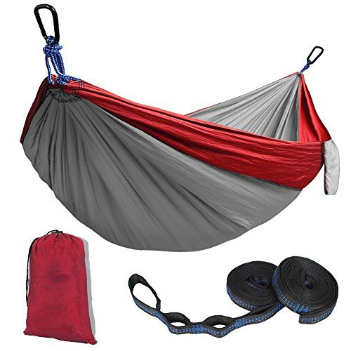 Kootek Double Camping Hammock Portable Indoor Outdoor Tree Hammock with 2 Adjustable Hanging Straps, Lightweight Nylon Parachute Hammocks for Backpacking, Travel, Beach, Backyard, Hiking. For product & price info go to:  https://all4hiking.com/products/kootek-double-camping-hammock-portable-indoor-outdoor-tree-hammock-with-2-adjustable-hanging-straps-lightweight-nylon-parachute-hammocks-for-backpacking-travel-beach-backyard-hiking/