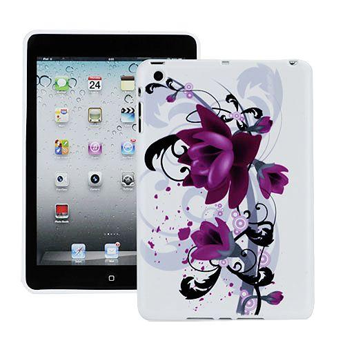 Θήκη innovative design για iPad mini - Μωβ λουλούδια