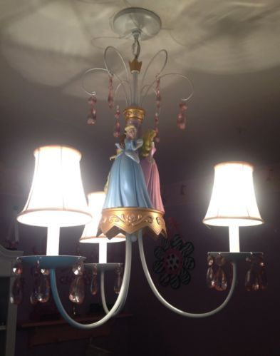Disney Princess Chandelier Cinderella Belle Aurora ...