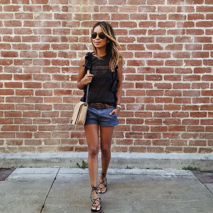Julie Sariñana (@sincerelyjules) • Instagram photos and videos - isabel marant top and american eagle shorts