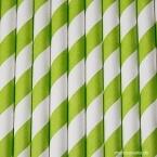 Papier-Strohhalme, spring green, 25 Stck.