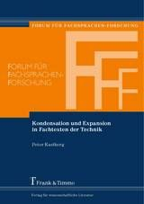 Kondensation und Expansion in Fachtexten der Technik / Peter Kastberg
