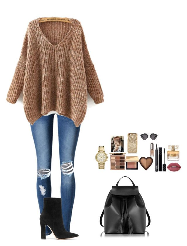 """""""Untitled #481"""" by mariapangal on Polyvore featuring WithChic, Gianvito Rossi, Le Parmentier, Michael Kors, Stila, Lime Crime, Bobbi Brown Cosmetics, Too Faced Cosmetics, NARS Cosmetics and Gucci"""