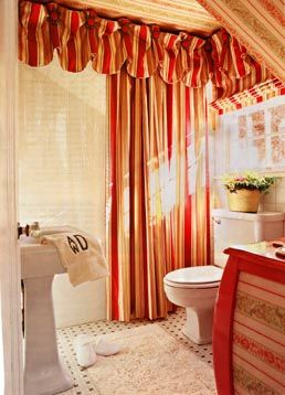 This Shower Curtain Valance Is Based On Our Kasey Valance Pattern