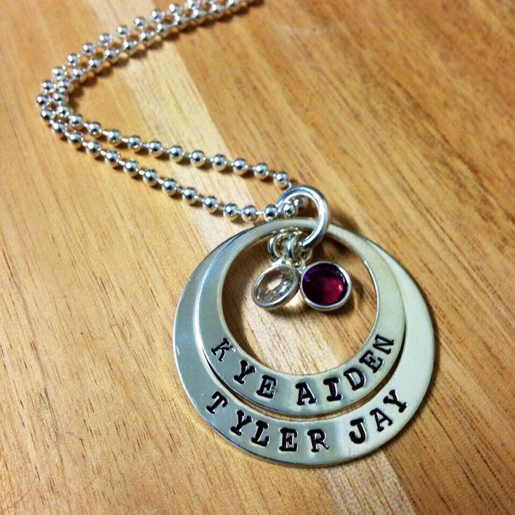 2 Tier Pendant with Birthstones Available in Sterling Silver and Gold Filled Silver pedants comes with a Sterling Silver Ball Chain  Gold Pendants do not come with a chain Sterling Silver $120.00 Gold Filled $135