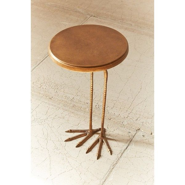 Birdy Side Table featuring polyvore, home, furniture, tables, accent tables, round occasional tables, round side table, round tables, circular side table and urban outfitters furniture