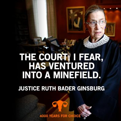 """She concluded: """"Indeed, approving some religious claims while deeming others unworthy of accommodation could be 'perceived as favoring one religion over another,' the very 'risk the Establishment Clause was designed to preclude.' The Court, I fear has ventured into a minefield."""""""