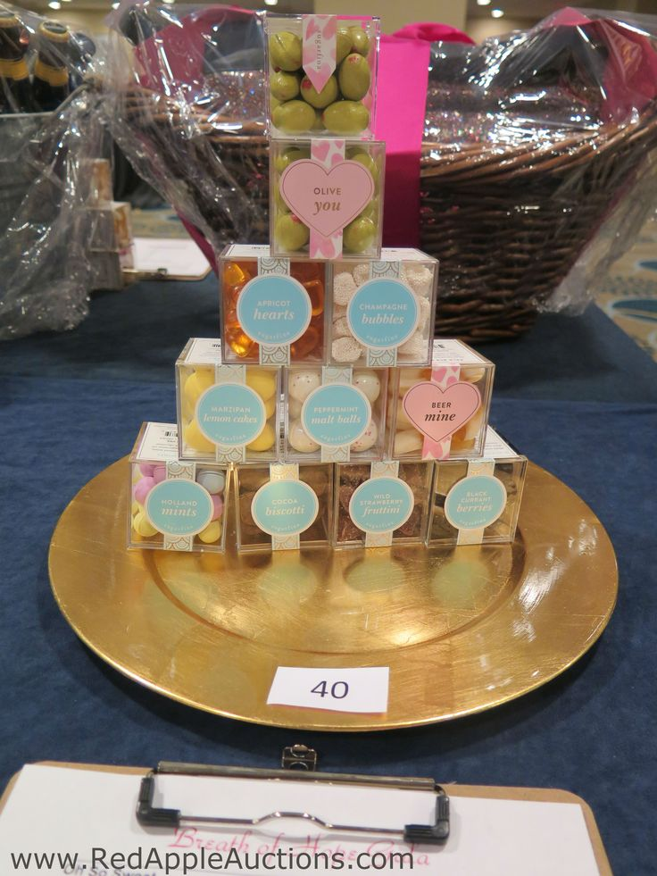 fancy snacks from a department store smartly displayed at this disease based fundraising auction