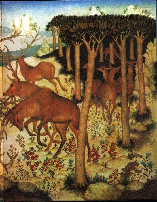 """Two Deer Were Encountered"" - published in 1980 in Moscow, the work of the incredible Russian Illustrator, Gennady Spirin."