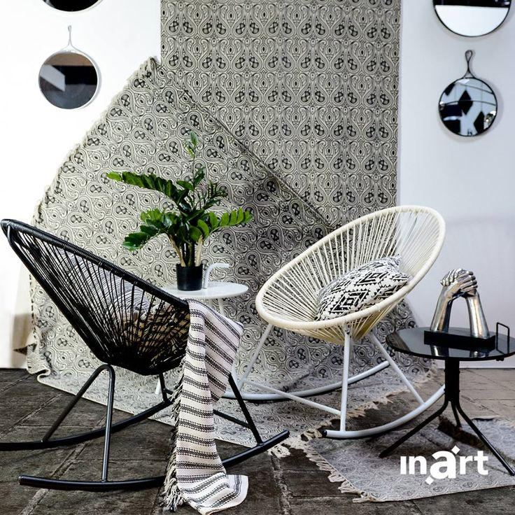 To sit or not to sit? These two architectural chairs are so impressive… you may catch yourself admiring them more often than relaxing on them! Discover more beauty at www.inart.com